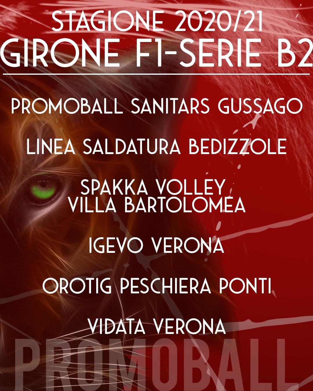 Girone F1 Serie B2 Promoball